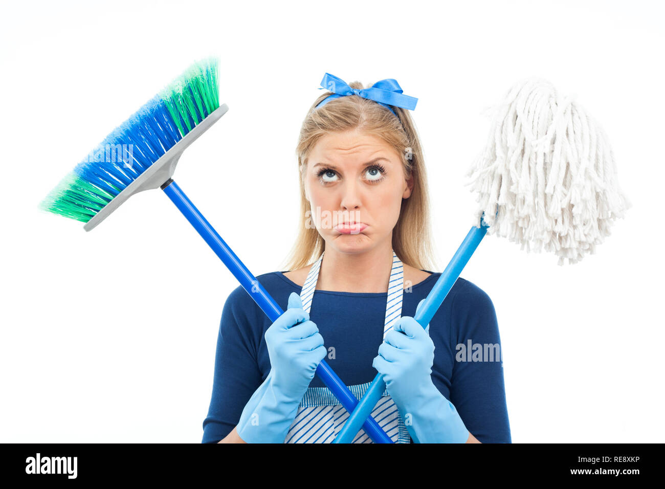 Too much cleaning - Stock Image