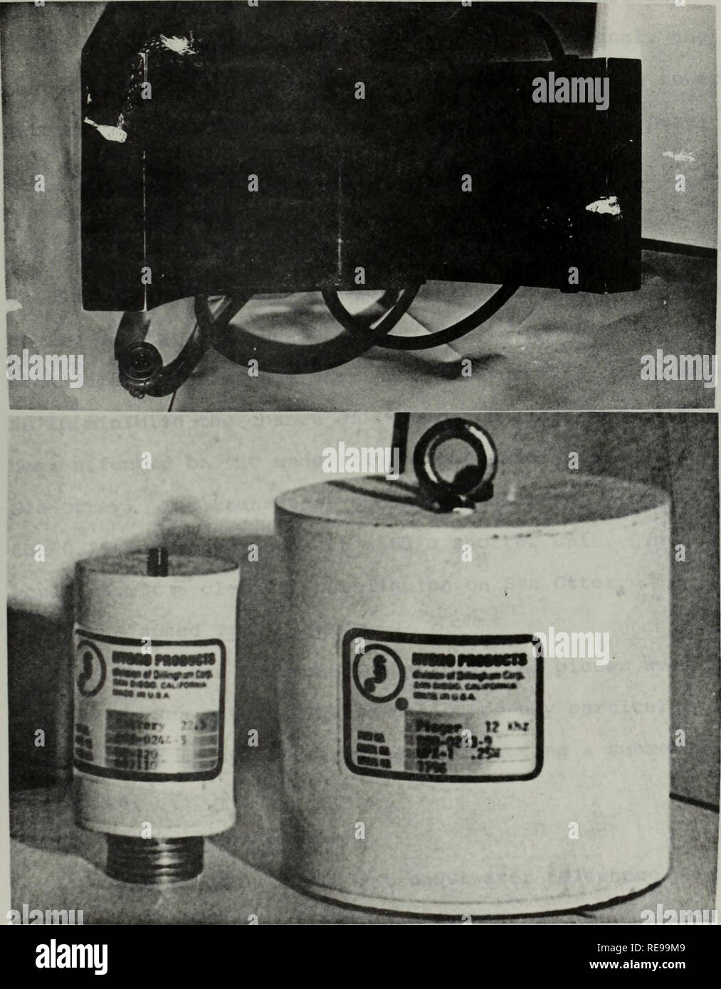 . Conversion of two- man submersible for shallow depth oceanographic research: phase II-potential utilization, instrumentation study.. Oceanography. Figure 2. Pinger/Locator Beacon-Pinger Locator Interocean Systems Model B-910 Signal (KHZ): 12-27-37 Dimensions (in): 7.5 x 5.5 x 11.5 Range (mi): 4+ Power: Internal 12V battery Weight (lbs) : Accuracy: + 5° Air 4 Cost: $925.00 Water Neutral 42. Please note that these images are extracted from scanned page images that may have been digitally enhanced for readability - coloration and appearance of these illustrations may not perfectly resemble the  - Stock Image
