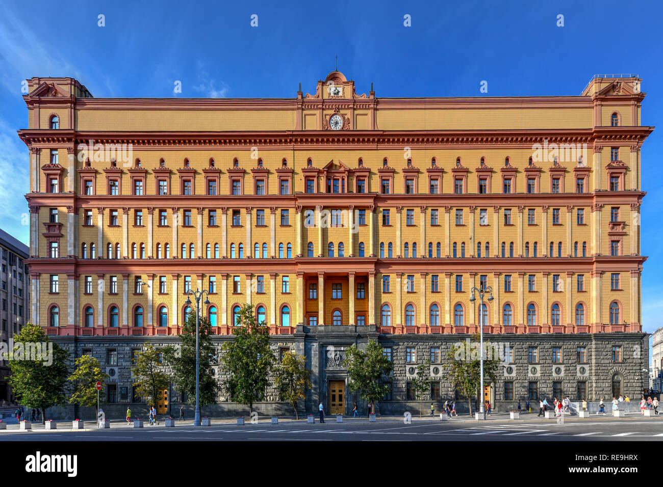 Lubyanka is the name for the headquarters of the FSB and affiliated prison on Lubyanka Square in Meshchansky District of Moscow, Russia. - Stock Image