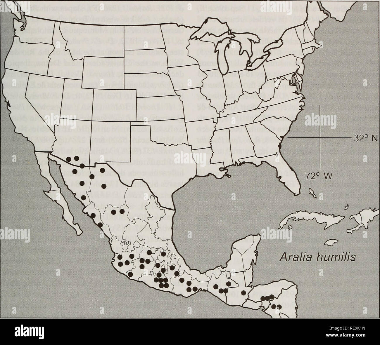 Map Of Central America Stock Photos & Map Of Central America