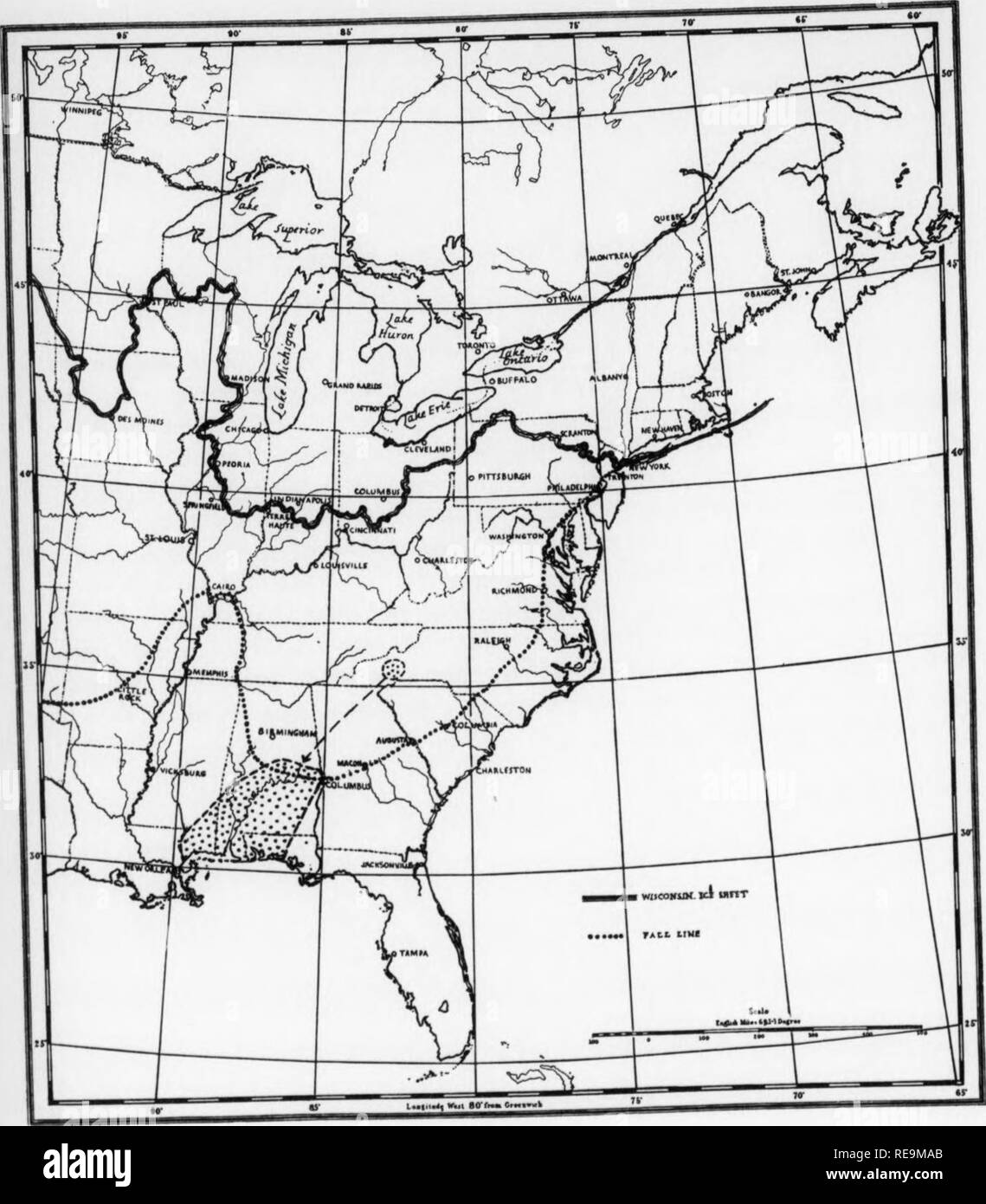 """. Contributions from the Botanical Laboratory and the Morris Arboretum of the University of Pennsylvania, vol. 13. Botany; Botany. FIGURE 4 Distribution of red pitchcrplant, Sarracenia jonesii lO i T- 1 r ^  , » RED PITCHERPLANT Sarracenia jonesii Wherry occurred, seeds reached the neaawatc _ , ,, • , ^ Abhama Piedmont province and, f.«he. down .^^. le ^J^J^^l^^t I ^t^^^^^^^ W uLsp.ead.g when the Coastal Plain emerged from 'he^'^^"""" ^ ^^, J jj^^n^ i"""",o Florida and Sit™. r-""""^»^»- - --* -"""""""" *'"""" -"""""""""""" """"""""^ further. II. Please note that these images - Stock Image"""