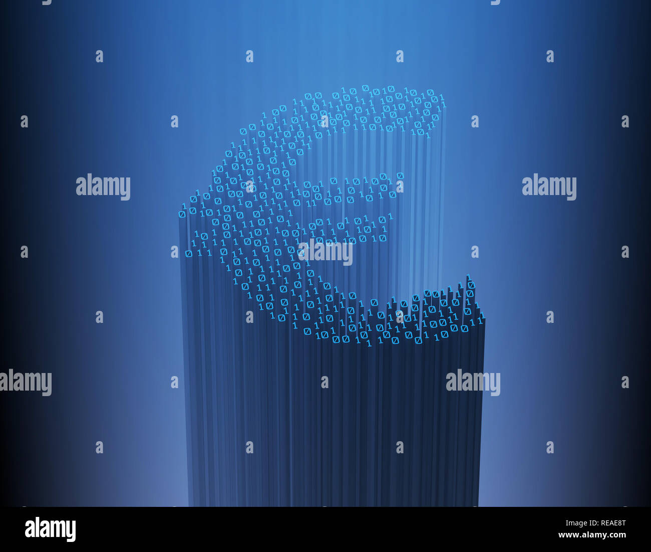 Network digital binary technology, programming and network code, data transmission,euro - Stock Image