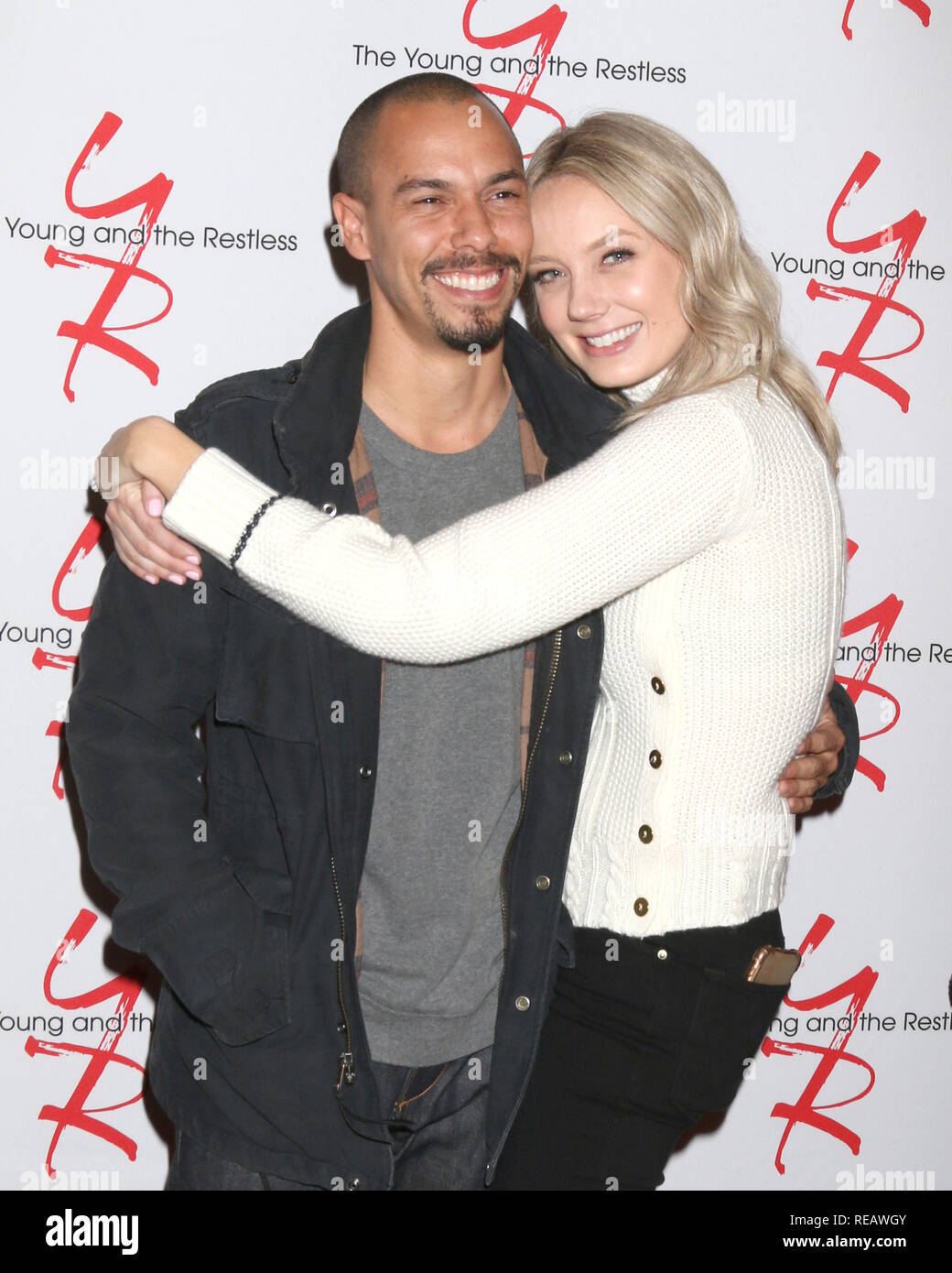 January 17, 2019 - Los Angeles, CA, USA - LOS ANGELES - JAN 17:  Bryton James, Melissa Ordway at the Young and the Restless Celebrates 30 Years at #1 at the CBS Television CIty on January 17, 2019 in Los Angeles, CA (Credit Image: © Kay Blake/ZUMA Wire) - Stock Image