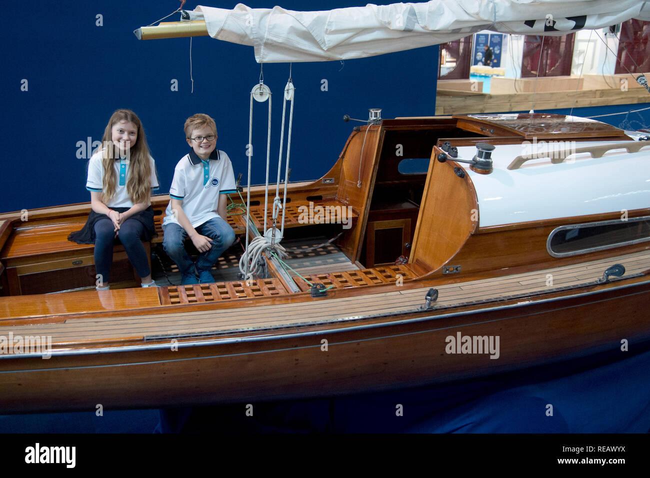 Duesseldorf Deutschland 18th Jan 2019 The Boat Models Noah And