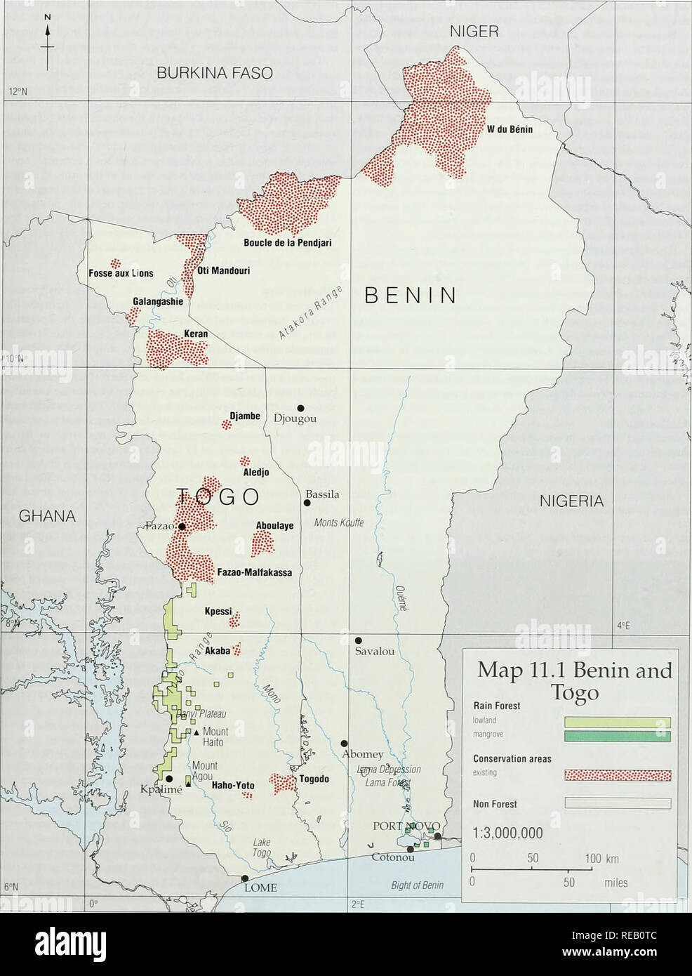 The Conservation Atlas of Tropical Forests: Africa. Benin and Togo