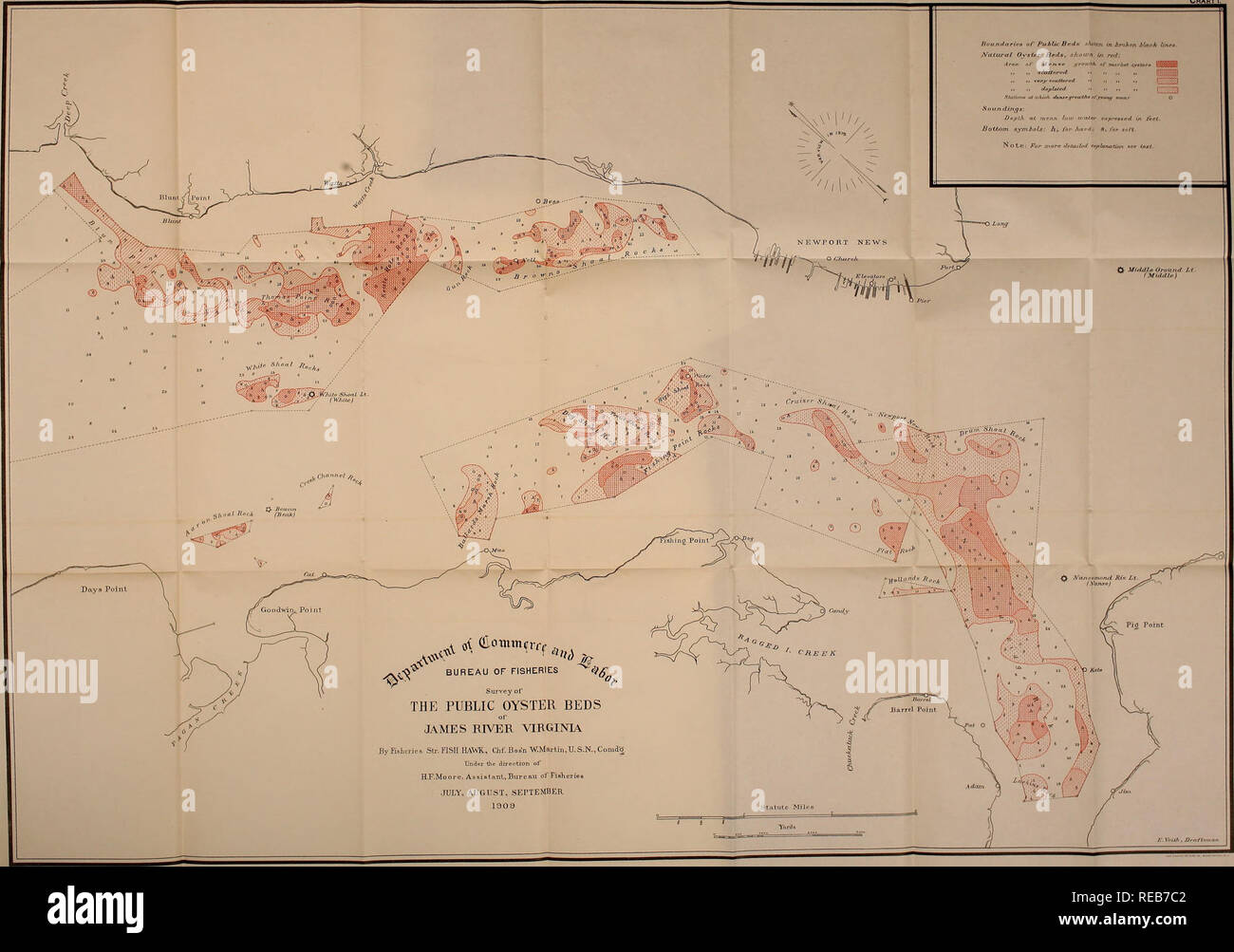 James River Us Map.Condition And Extent Of The Oyster Beds Of James River Virginia