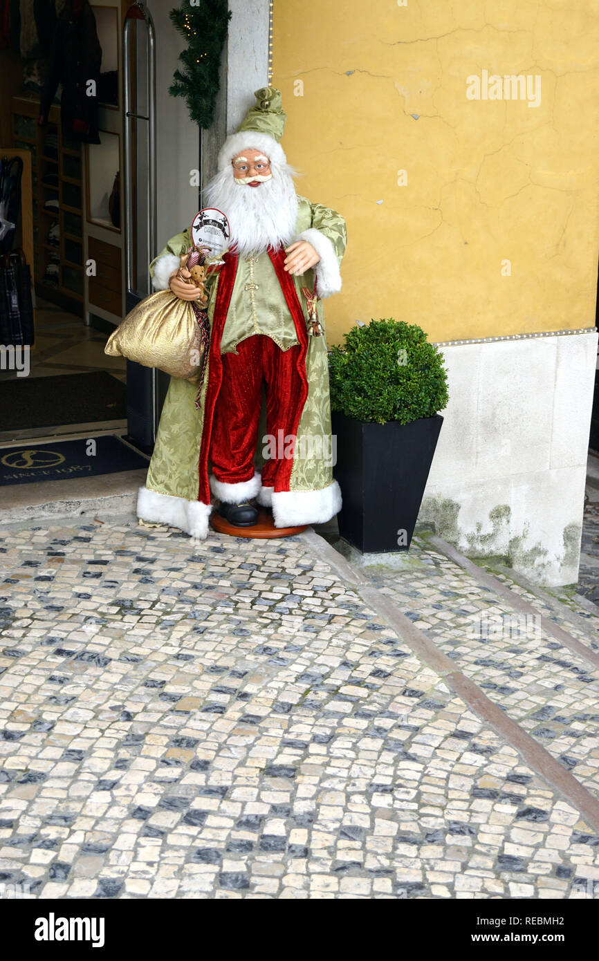 Father Christmas statue in Sintra, Portugal - Stock Image