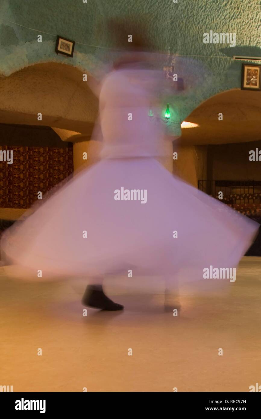Whirling dervish, Cappadocia, Turkey - Stock Image