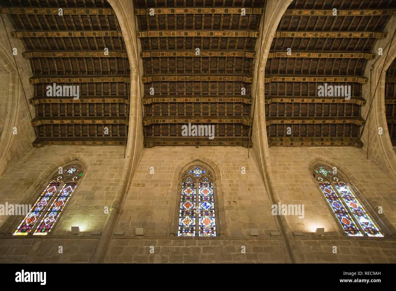 Museu d'Historia de la Ciutat, City History Museum, Capella Reial de Santa Agata in the Palau Reial Major, Barcelona, Catalonia - Stock Image