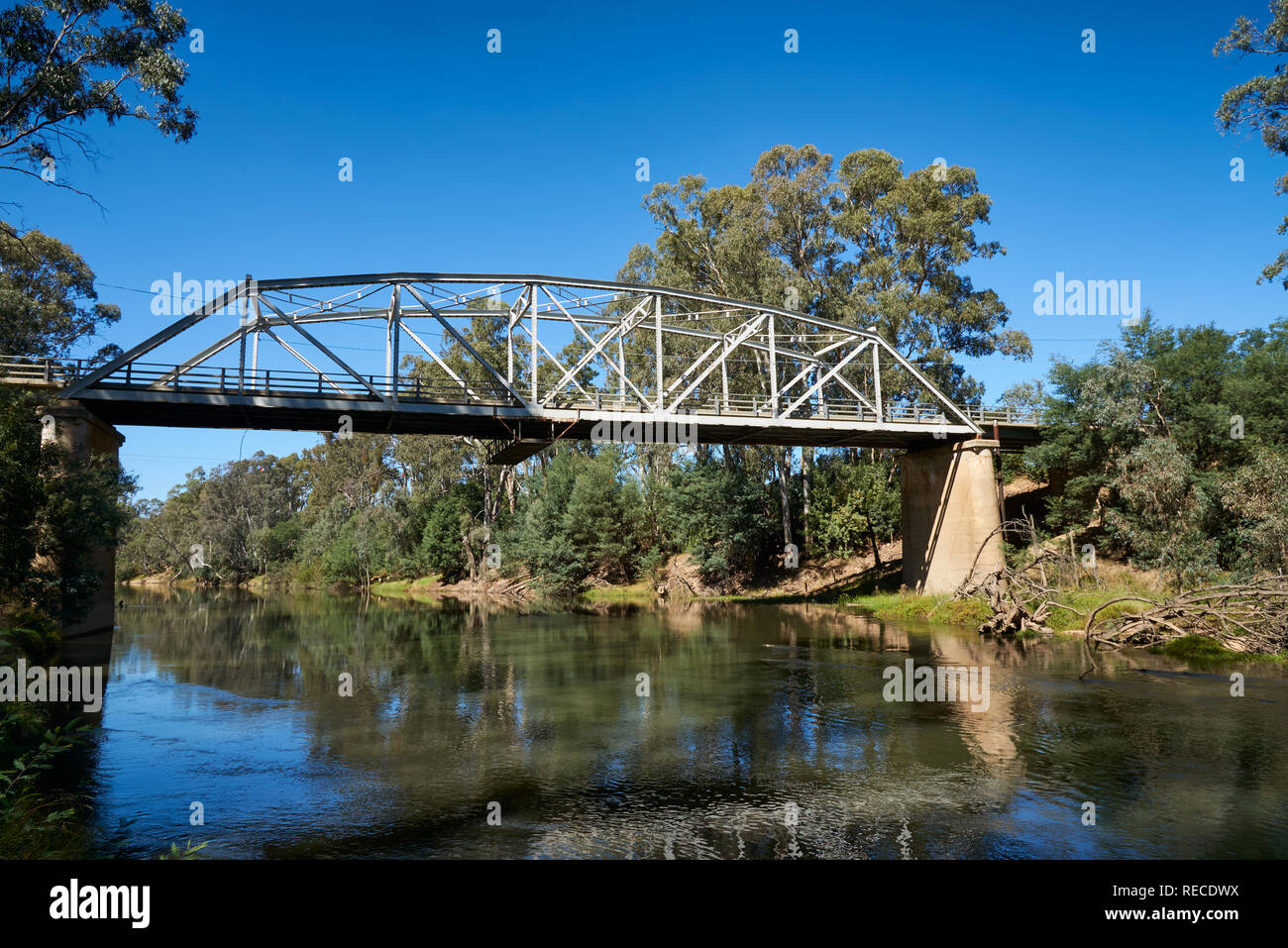 Road bridge at Murchison, Victoria, Australia. - Stock Image