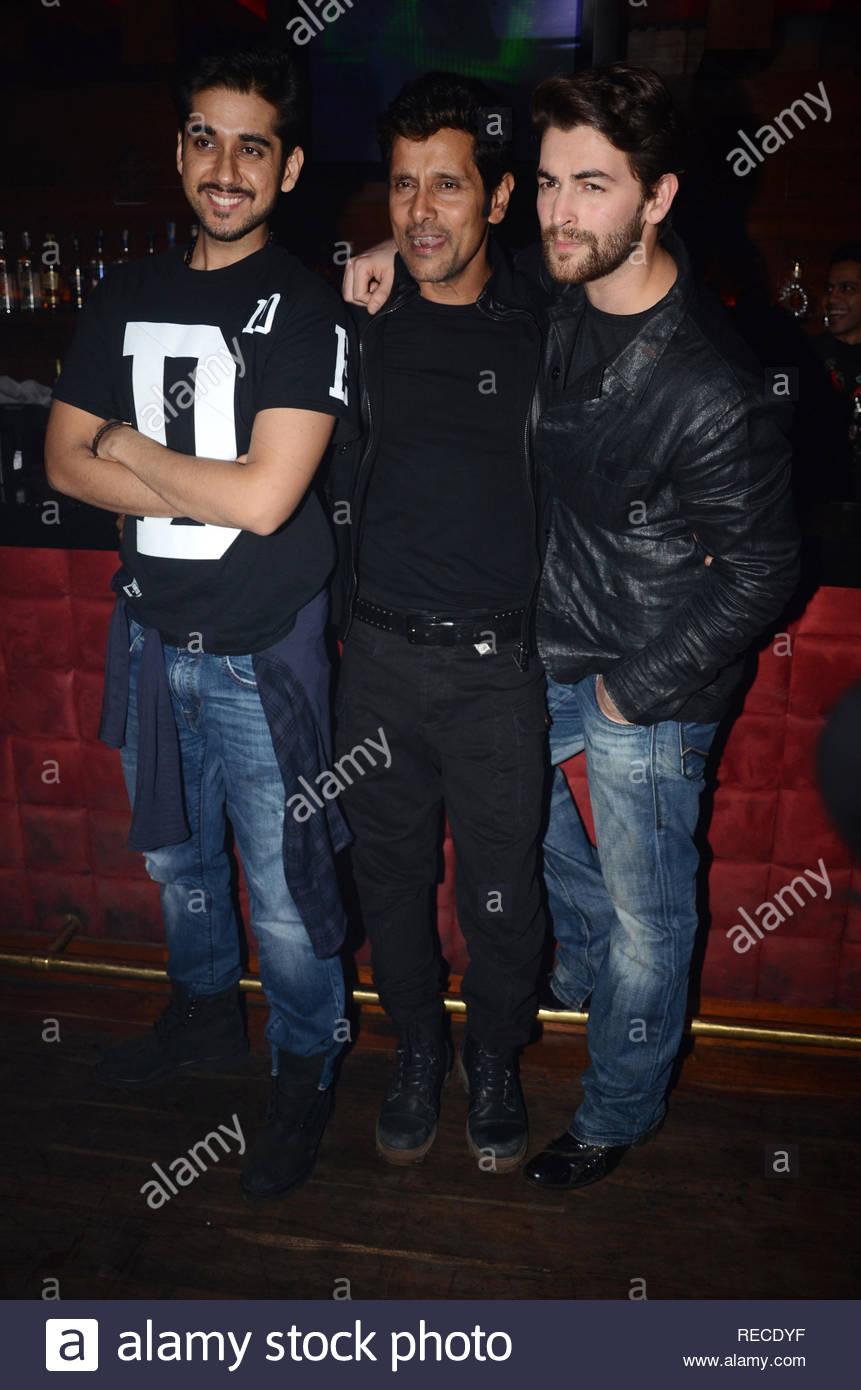 Bollywood actor Vinay Virmani, Vikram and Neil Nitin Mukesh during the music launch of upcoming film David in Mumbai, India on January 14, 2013. (Shripad Naik/ SOLARIS IMAGES) - Stock Image