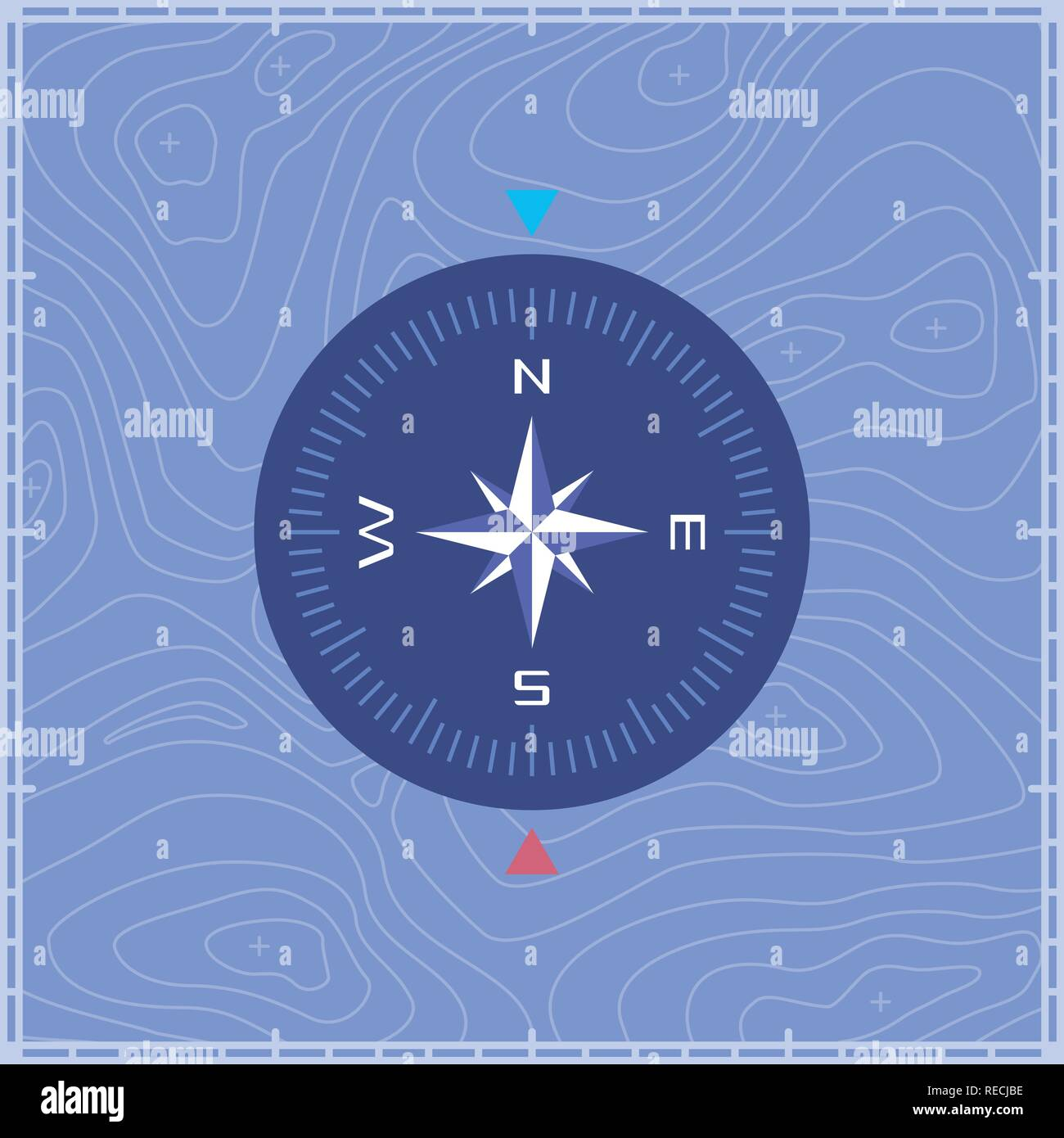 Cartographic Compass - Stock Image