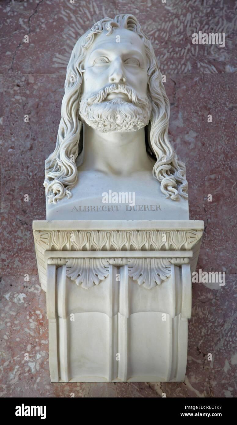 Bust of Albrecht Duerer, German printmaker and painter - Stock Image