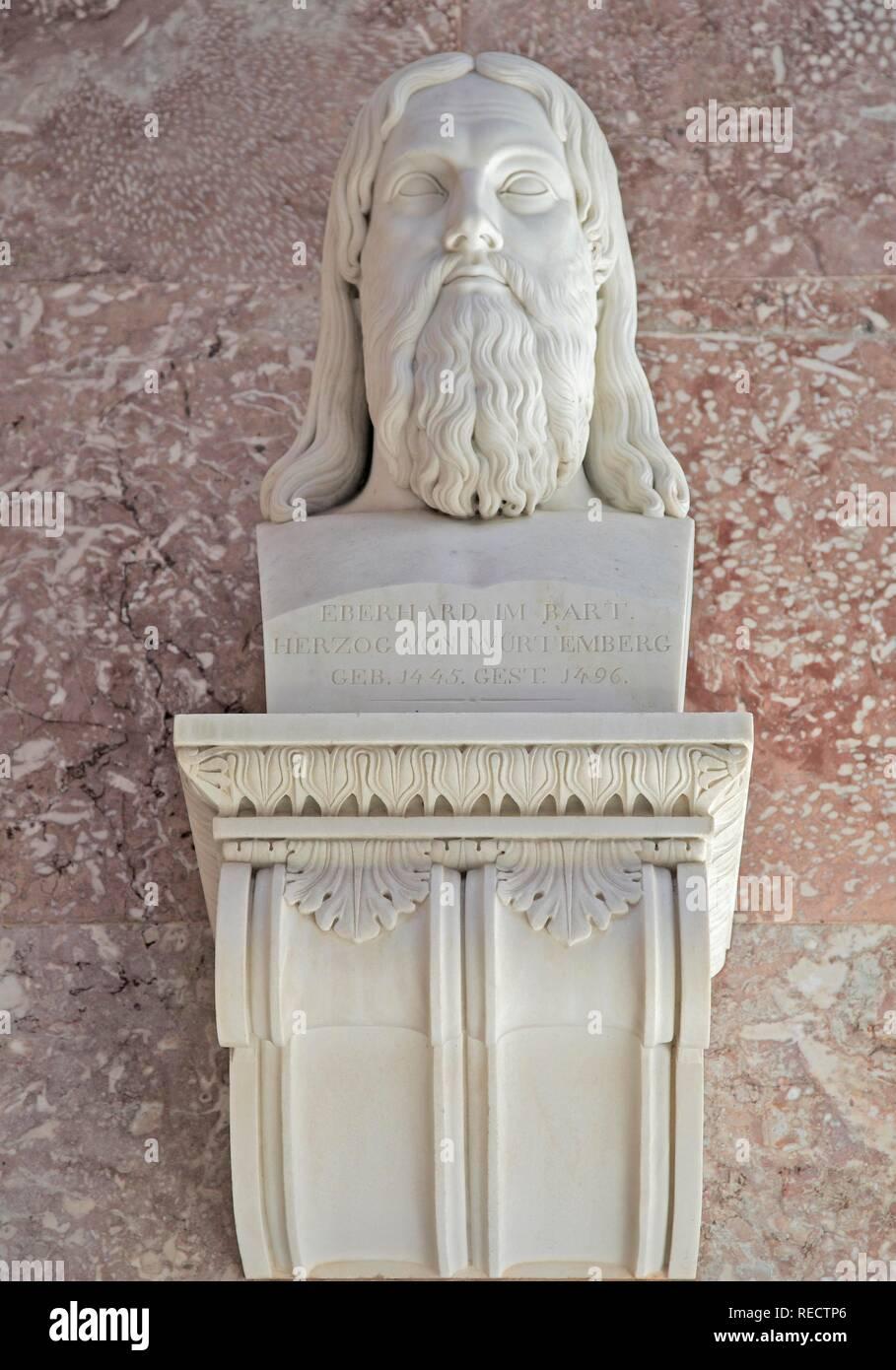Bust of the Eberhard im Bart, Duke of Wuerttemberg - Stock Image