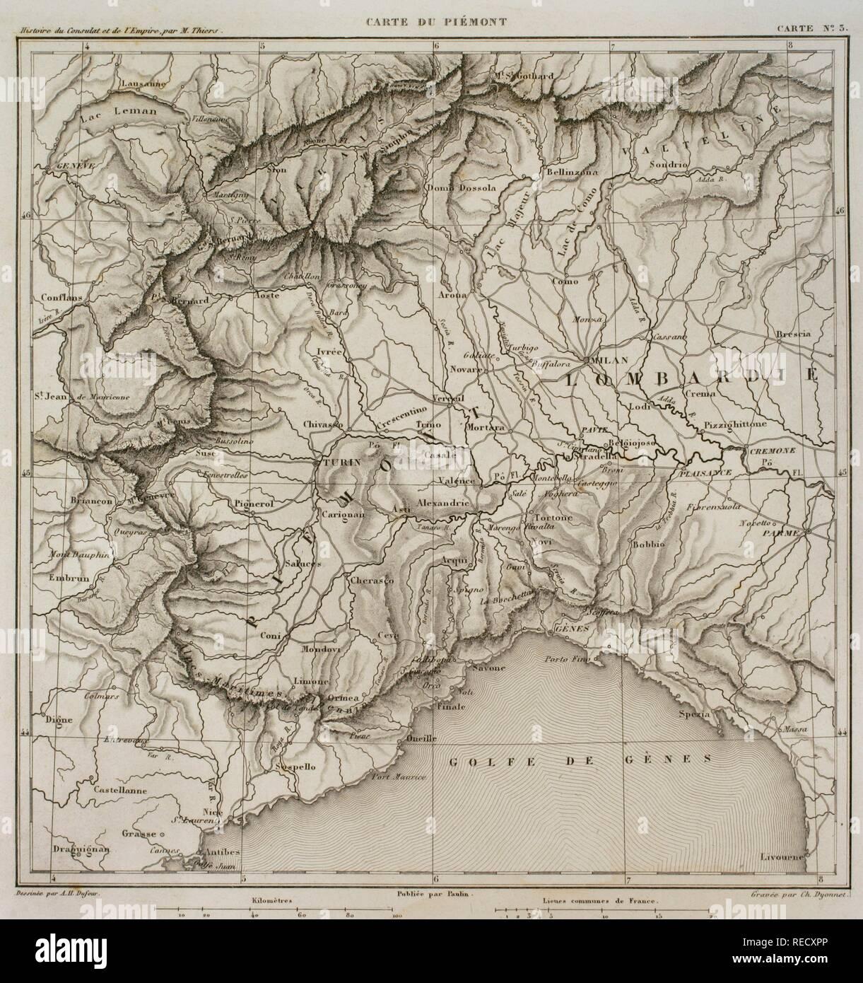 Map Of North West Italy.Map Of Piedmontt Northwest Of Italy Atlas De L Histoire Du