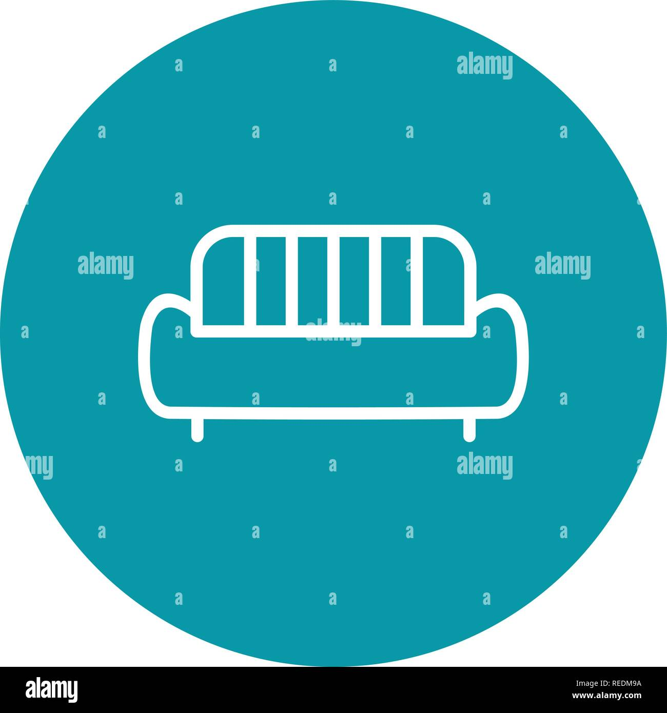 Sofa Vector Icon Sign Icon Vector Illustration For Personal And
