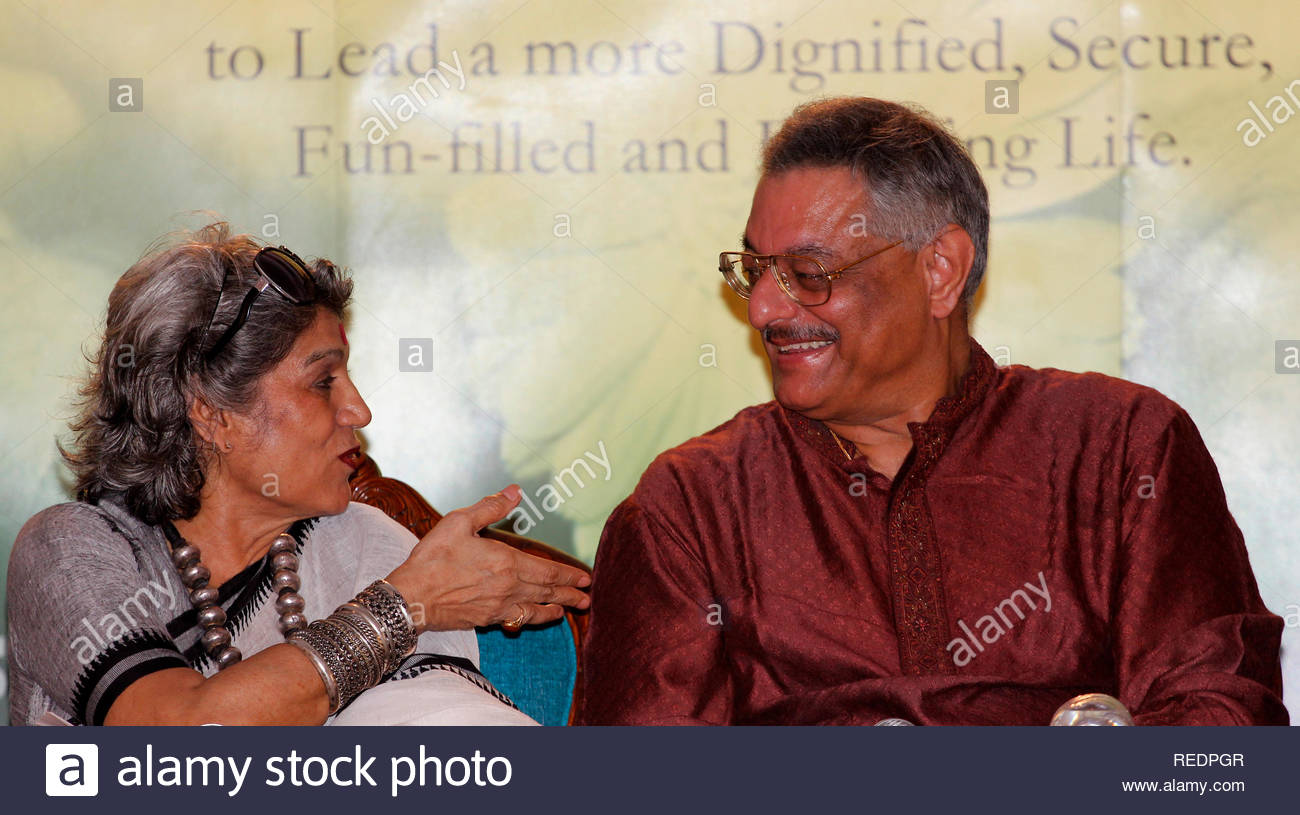 Theater actress Dolly Thakore and Television producer Siddharth Kak during  the Companionship Carnival event in Mumbai, ...