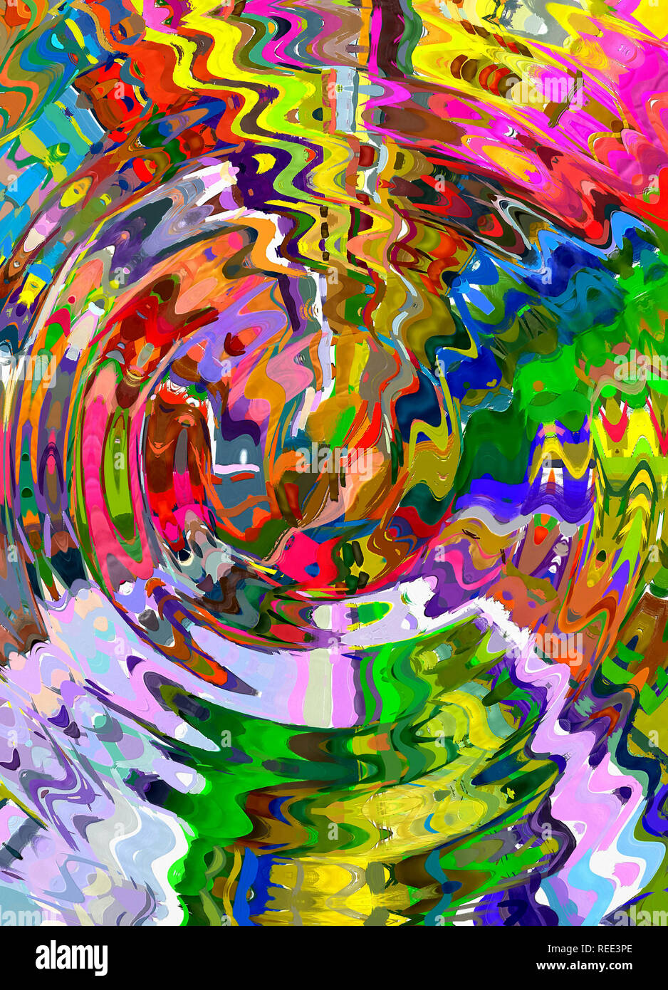 Graphic Painting Abstract Creative Background In Liquid Oil Style Digital Creating Design Pattern For Decoration Cover Web Banner Card Invitation Stock Photo Alamy