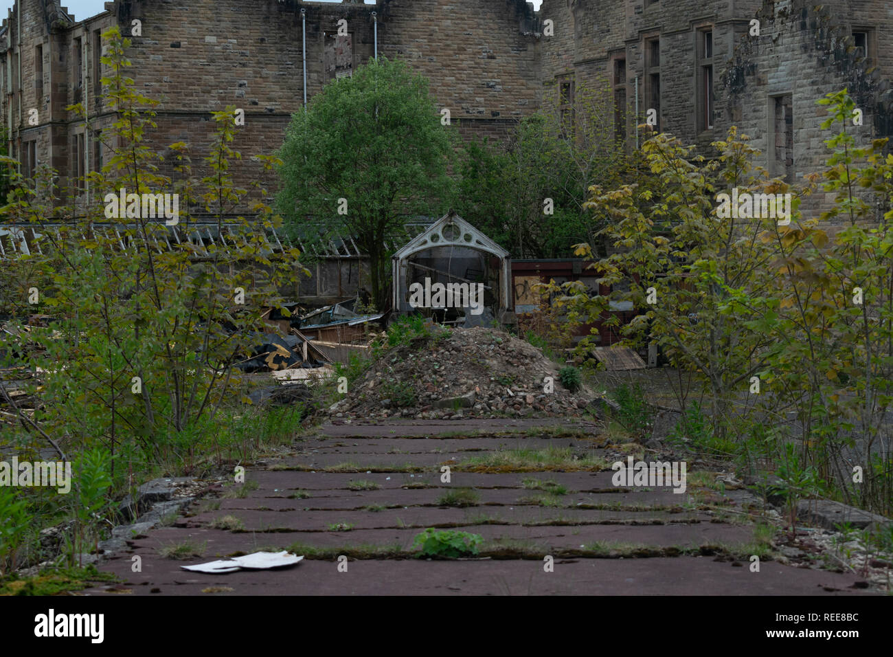 Abandoned Asylum Located In Scotland Left To Be Reclaimed By Nature Stock Photo Alamy