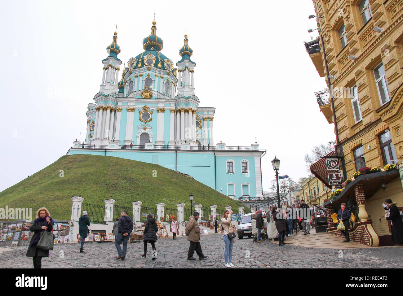 The City of Kyiv during winter - Stock Image