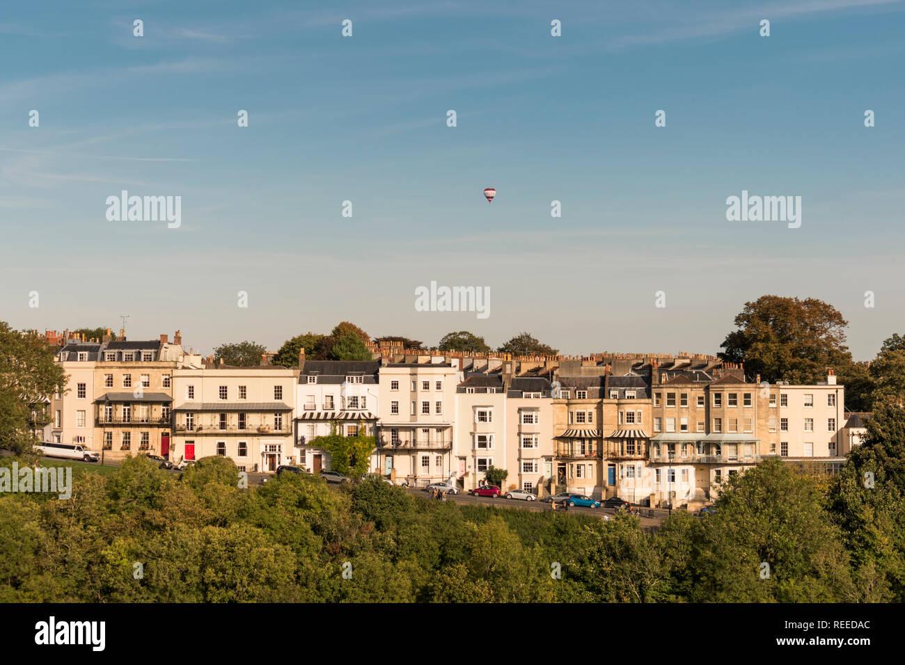 Views from the Clifton Suspension Bridge, Clifton, Bristol, UK Stock Photo
