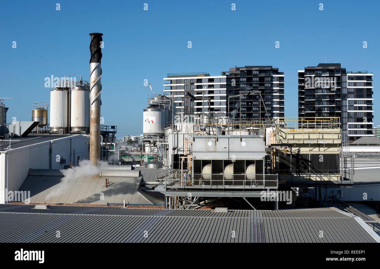 Parmalat milk factory, Brisbane, Queensland, Australia - Stock Image