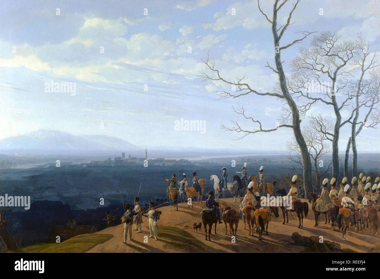 Siege of Kosel by Wilhelm von Kobell - Stock Image