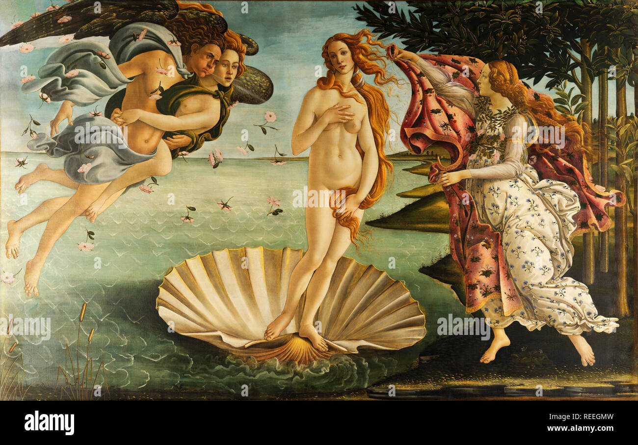 The Birth of Venus by Sandro Botticelli - Stock Image