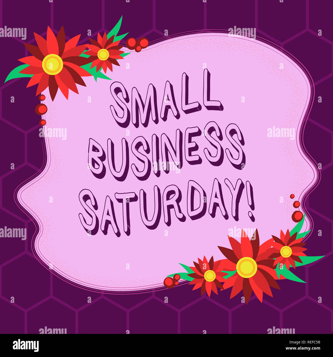 Conceptual hand writing showing Small Business Saturday