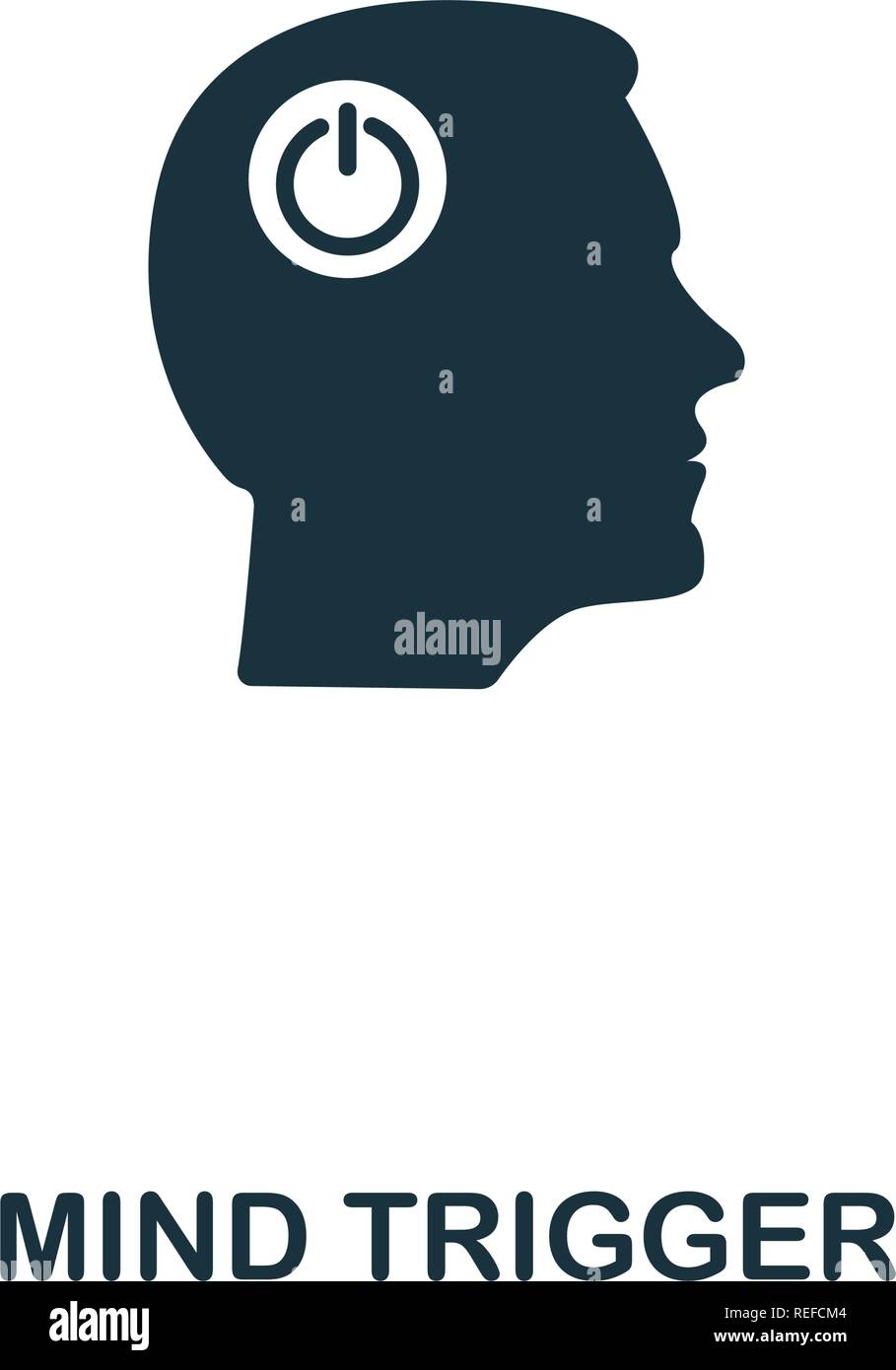 Mind Trigger icon. Premium style design from personality icon collection. Pixel perfect Mind Trigger icon for web design, apps, software, print usage - Stock Image