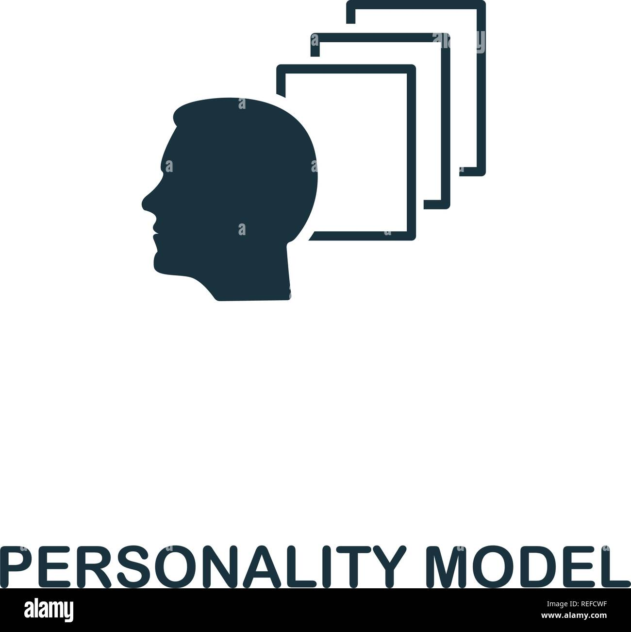 Personality Model icon. Premium style design from personality icon collection. Pixel perfect Personality Model icon for web design, apps, software, print usage - Stock Vector