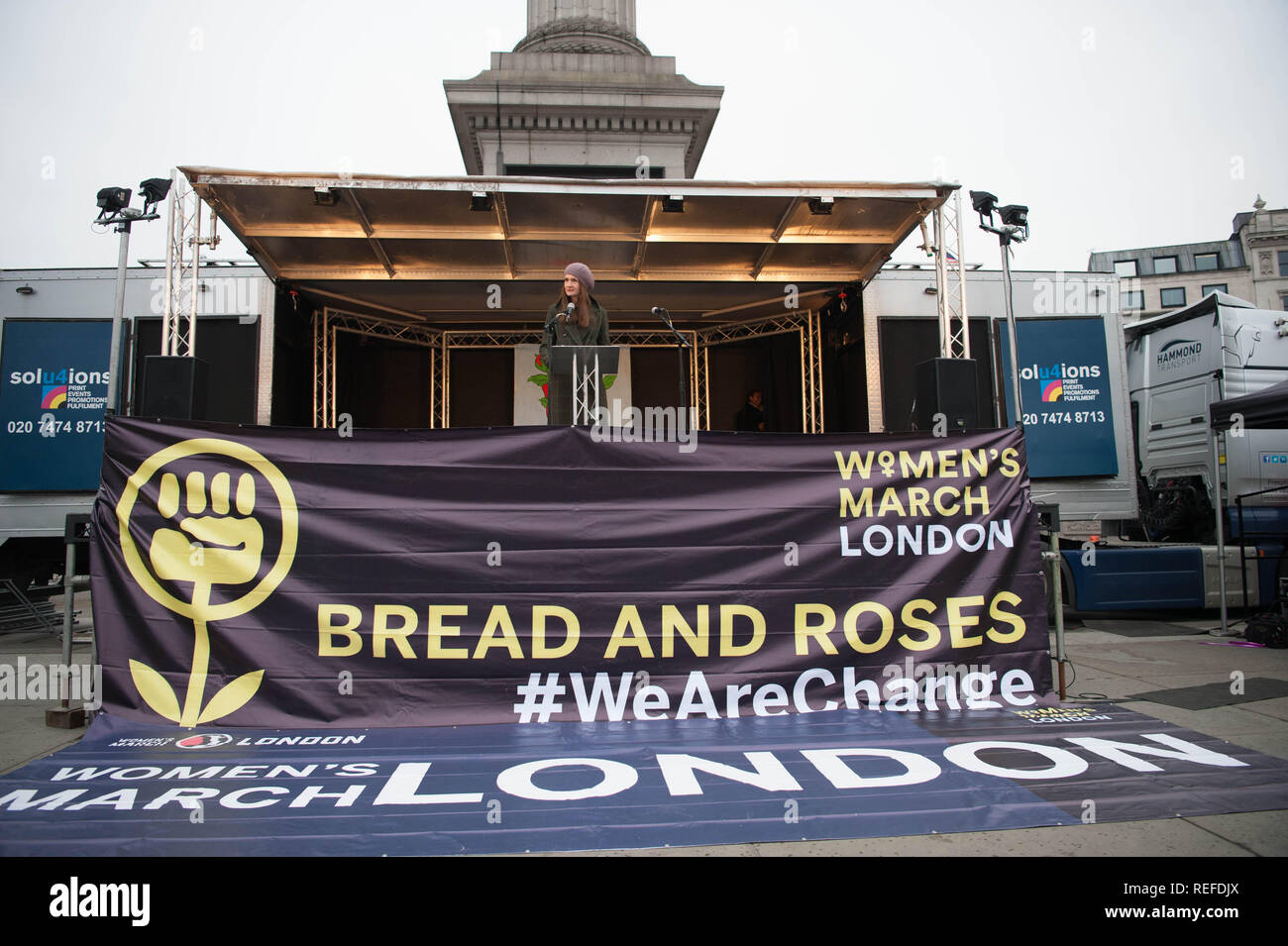 London Women's  March, 19 January 2019. Stock Photo