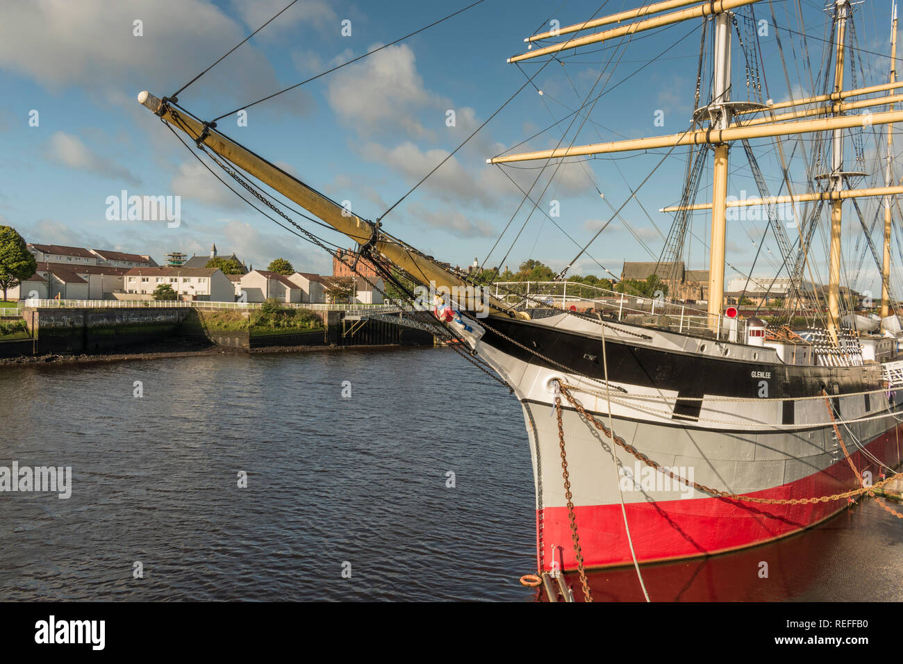 The Tall Ship Glenlee at Glasgow's Riverside Museum - Stock Image
