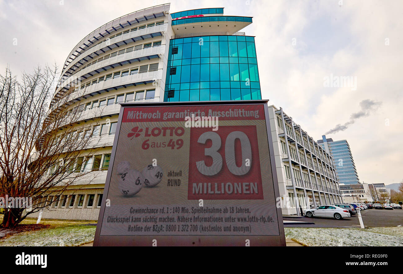 Koblenz Germany 22nd Jan 2019 A Poster In Front Of The Lotto