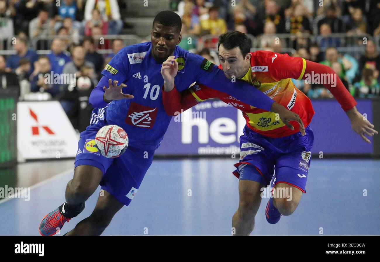 firo: 19.01.2019, Handball: World Cup World Cup Main Round France - Spain. Dika Mem | usage worldwide - Stock Image