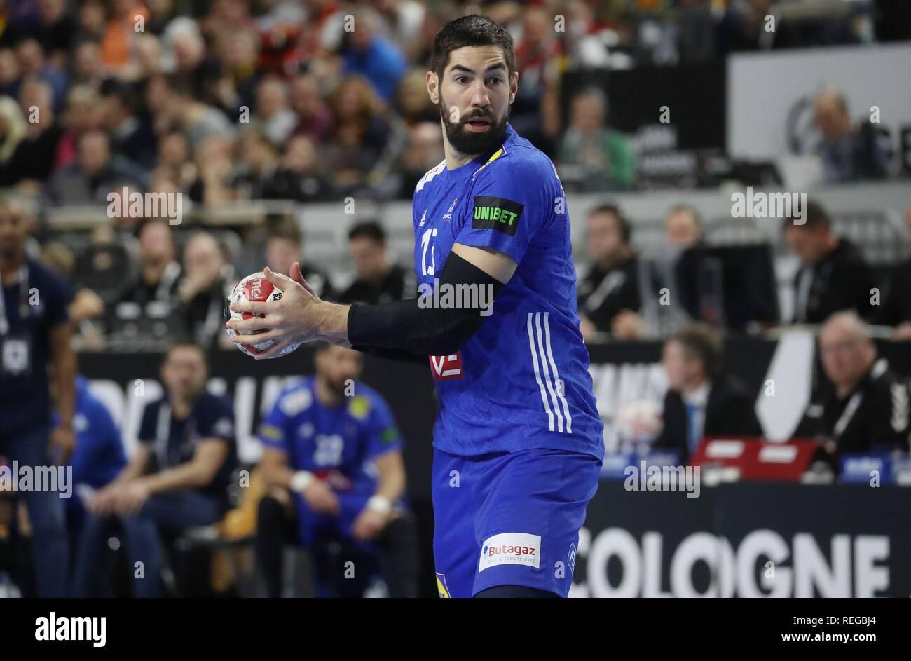 firo: 19.01.2019, Handball: World Cup World Cup Main Round France - Spain Single Action, Nikola Karabatic, FRA   usage worldwide - Stock Image