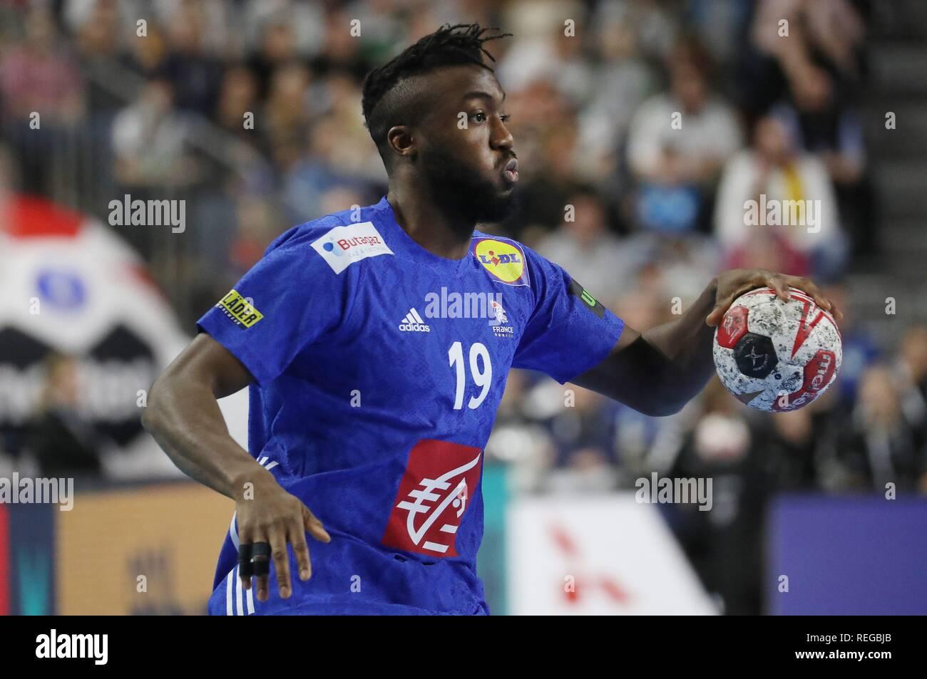 firo: 19.01.2019, Handball: World Cup World Cup Main Round France - Spain Single Action, Luc Abalo, FRA   usage worldwide - Stock Image