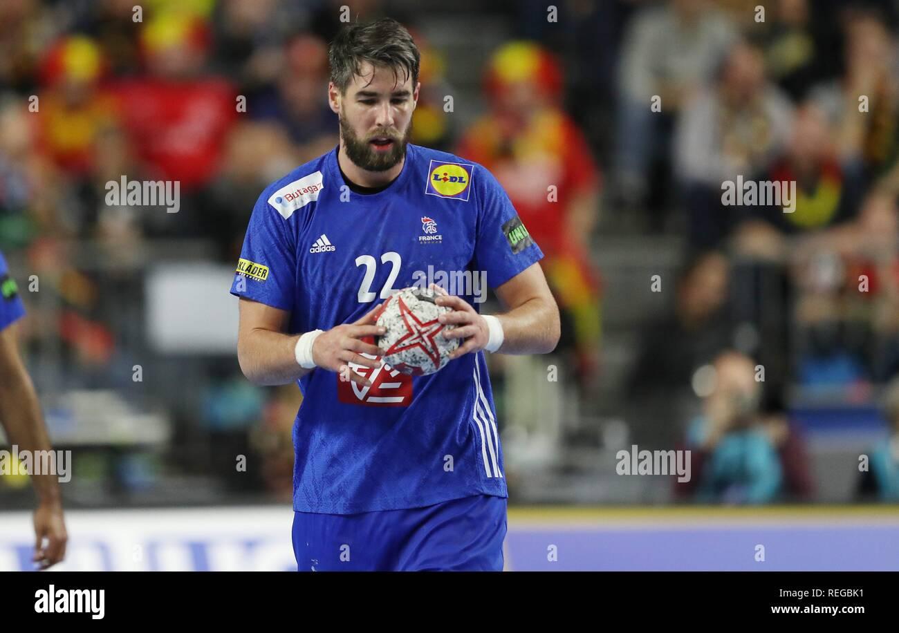 firo: 19.01.2019, Handball: World Cup World Cup Main Round France - Spain Single Event, Luka KArabatic, FRA   usage worldwide - Stock Image
