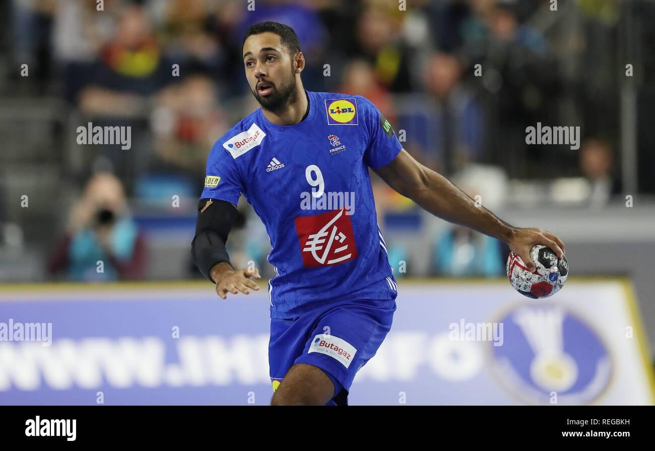 firo: 19.01.2019, Handball: World Cup World Cup Main Round France - Spain Single action, Melvyn Richardson, FRA   usage worldwide - Stock Image