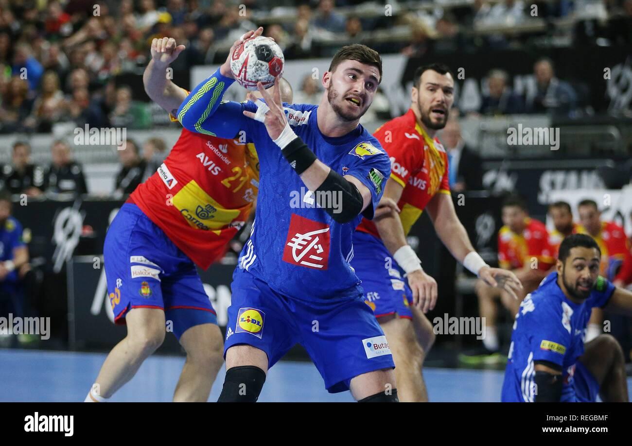 firo: 19.01.2019, Handball: World Cup World Cup Main Round France - Spain Single Event, Ludovic Fabregas, FRA   usage worldwide - Stock Image