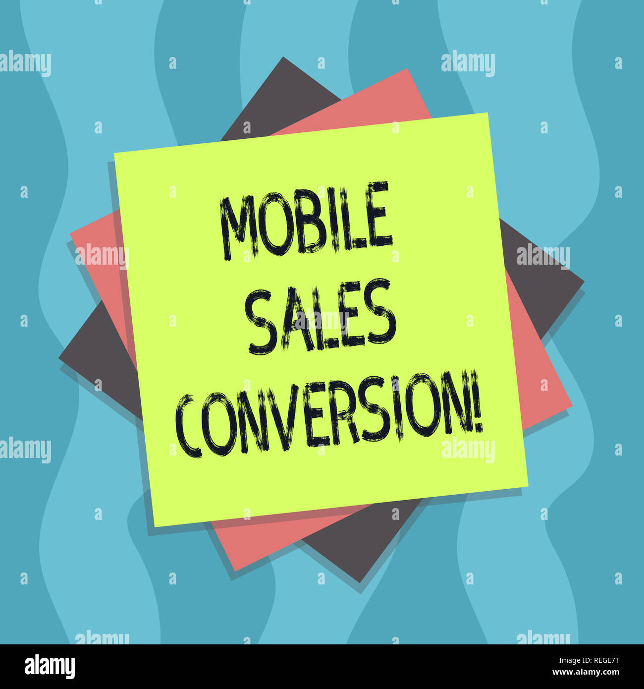 Conceptual hand writing showing Mobile Sales Conversion. Business photo text Any desired action that you want the user to take Multiple Layer of Sheet Stock Photo