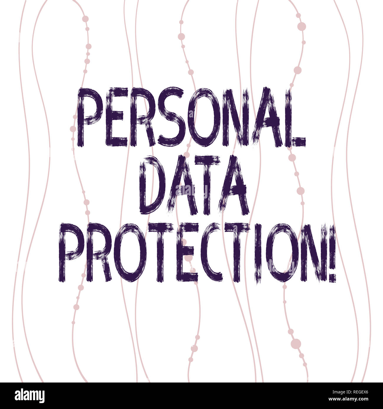 Text sign showing Personal Data Protection  Conceptual photo Keeping