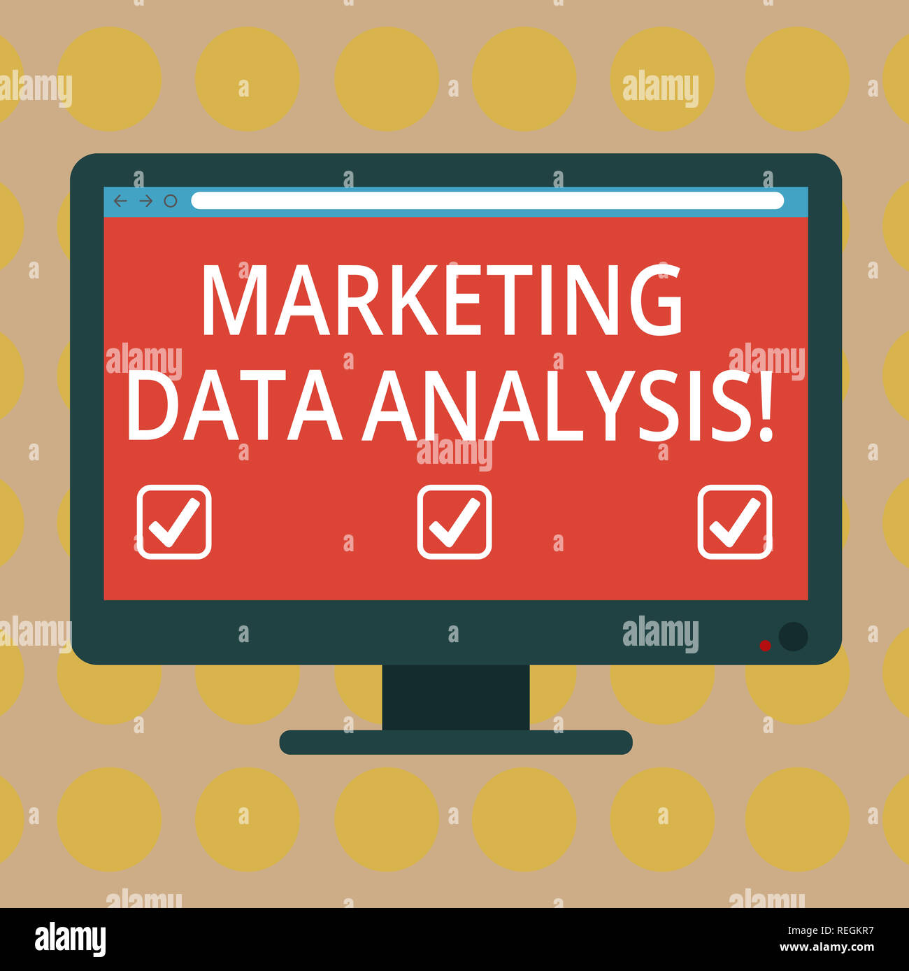 Word writing text Marketing Data Analysis. Business concept for Collecting data, scrutinized and make a conclusion Blank Computer Desktop Monitor Colo - Stock Image