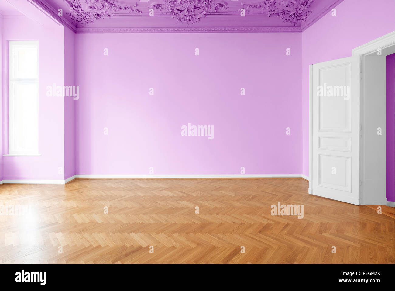 Pink Painted Walls High Resolution Stock Photography And Images Alamy