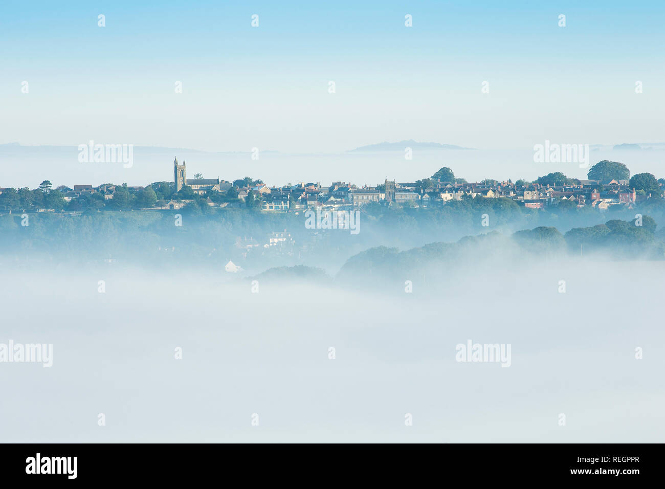 View over shaftesbury, Dorset, England - Stock Image