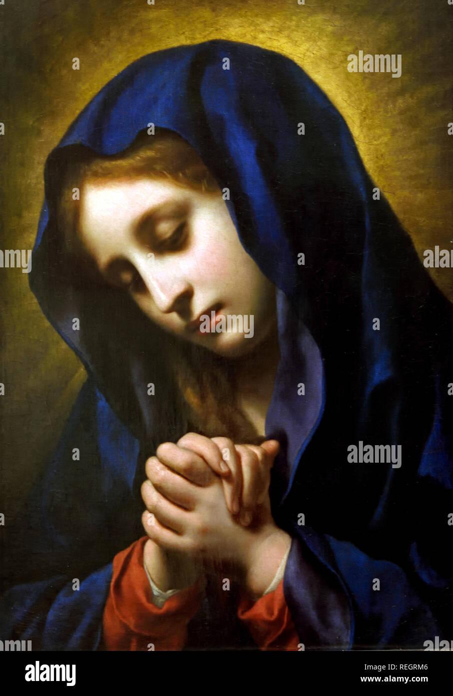 Virgin announced, 1653-55 Carlo Dolci 1616-1686 Italy, Italian, - Stock Image