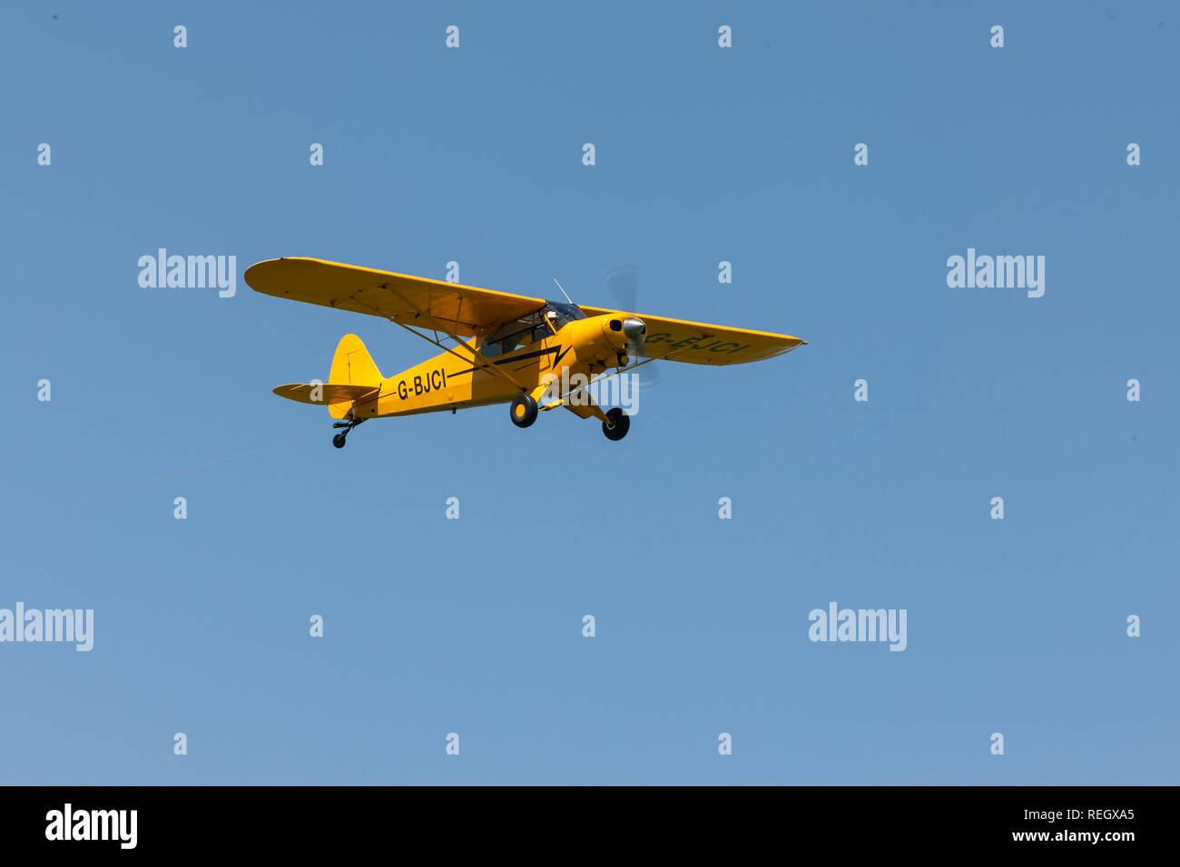 Piper PA-18-150 (Modified) Super Cub G-BJCI - Stock Image