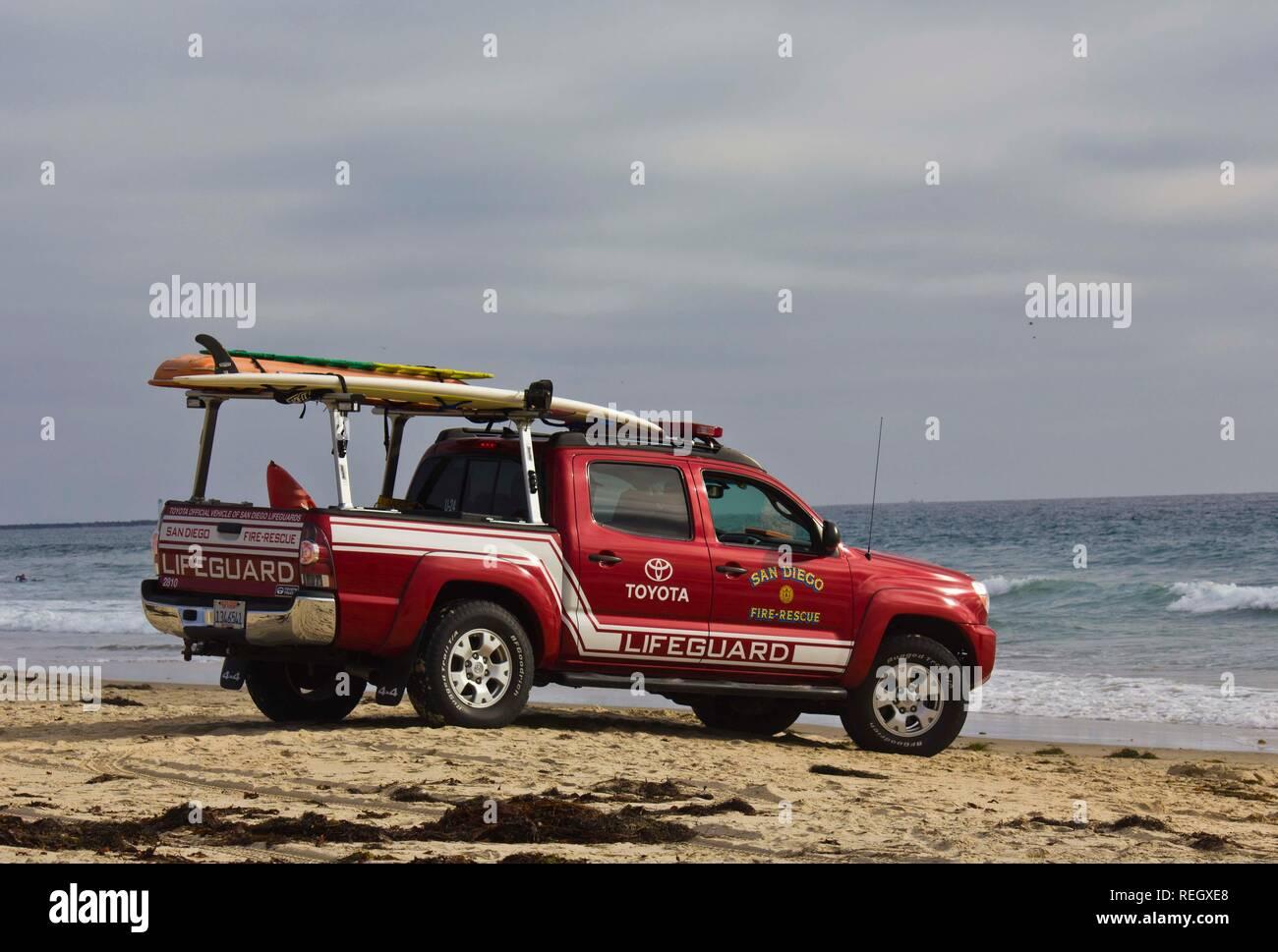 SAN DIEGO, USA - AUGUST 20 103: Toyota Lifeguard vehicle at