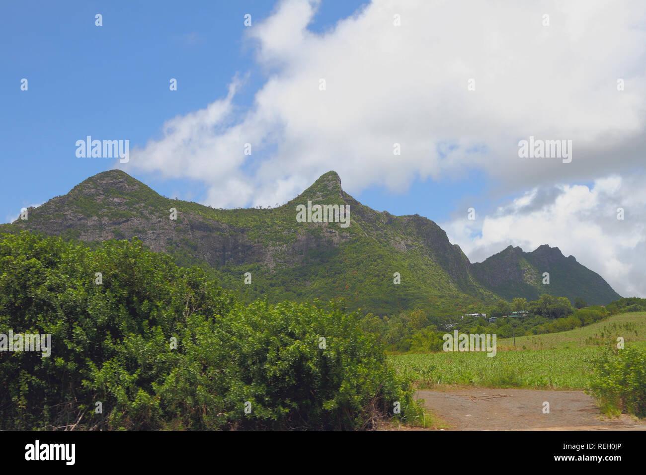 Mountain ridge Moka. Port Louis, Mauritius - Stock Image