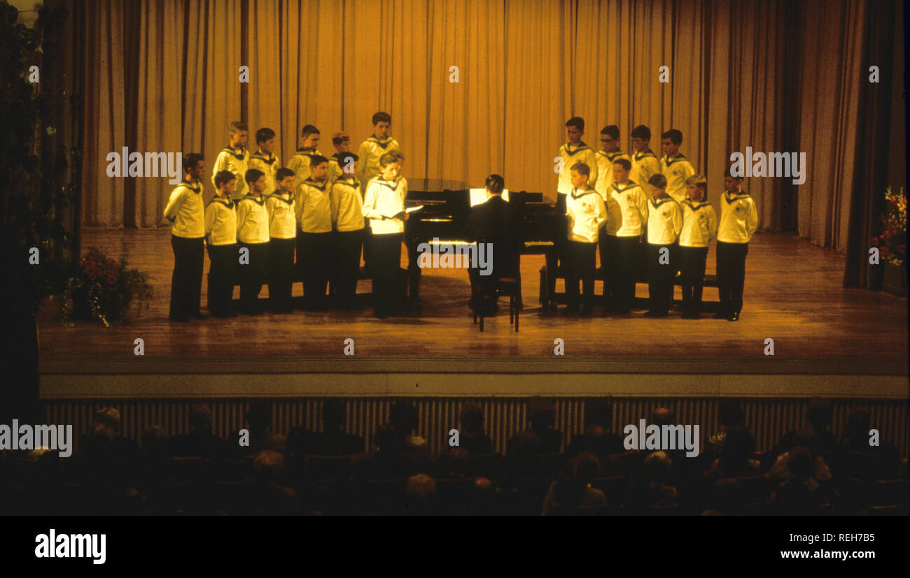VIENNA BOYS CHOIR  in the 1980s - Stock Image